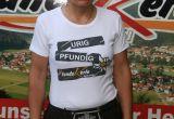 Damen Shirt mit Aufdruck urig/pfundig weiß