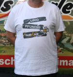 Herren Shirt mit Aufdruck urig/pfundig weiß